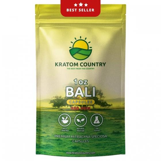 Premium Red Bali Kratom Capsules - Red Vein