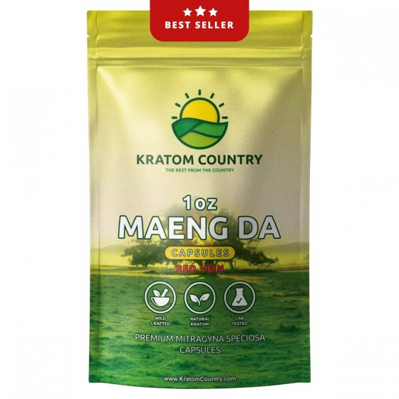Premium Maeng Da Kratom Capsules - Red Vein