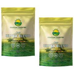 Ultra Blend Bali Kratom Capsules - Red / Green Vein Blend-8 Ounces (224 Grams)