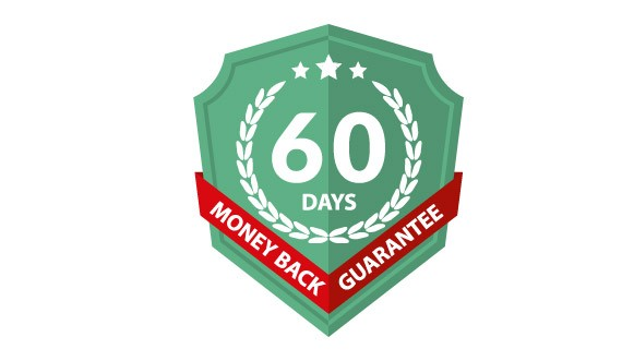Badge for 60 days - money back guarantee