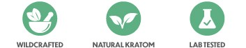 Badge for wildcrafted, natural kratom and lab tested product